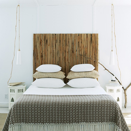 Quick and easy bamboo headboard
