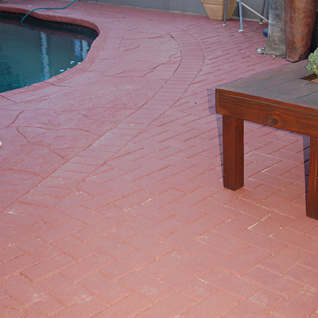 After painting, the bricks and concrete provide a much nicer flooring for the outdoor area