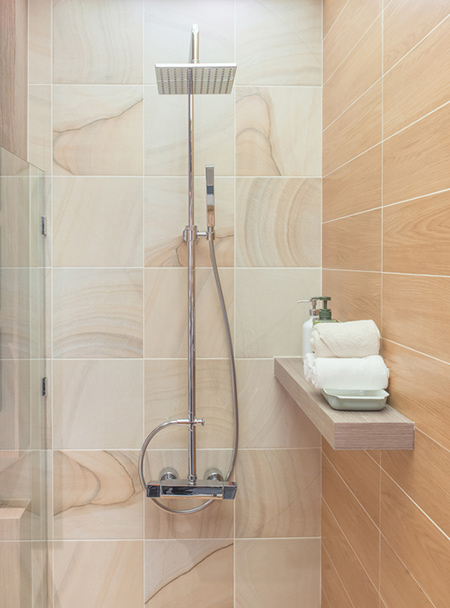 HOME DZINE Bathrooms Waterproof A Shower - How to waterproof a shower floor before tiling