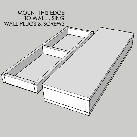 Home dzine home diy secret compartment wall shelf for How to make a secret compartment in your wall