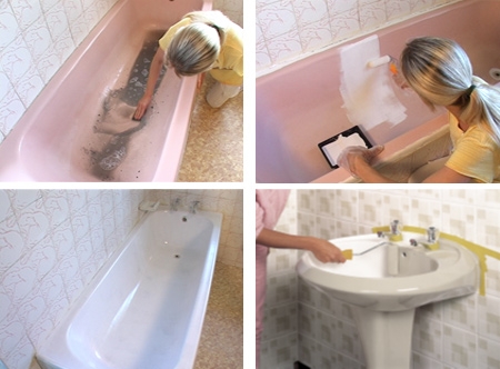 Home Dzine Bathrooms Can I Paint My Bath Basin Toilet Exterior