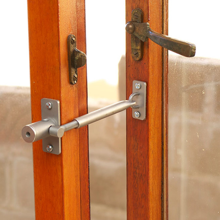 LockLatch locks in place and acts as a window stay