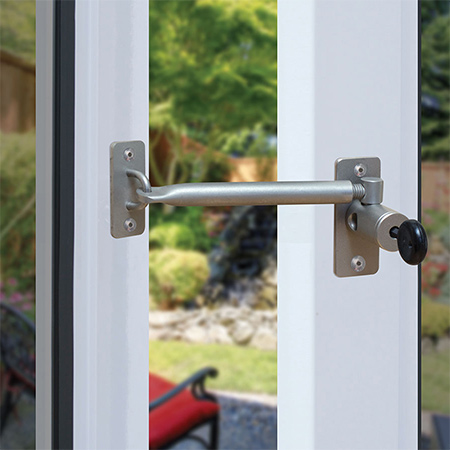 LockLatch prevents windows and doors from slamming and being damaged by the wind