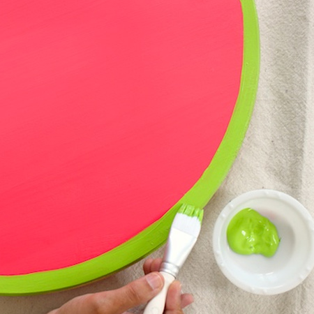 Summer fun with a watermelon tray