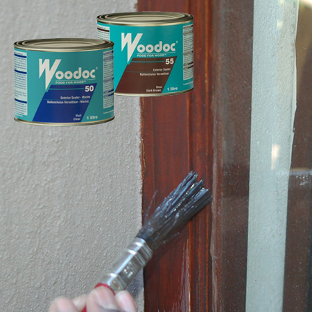 For exterior wood I always recommend that you use either Woodoc 50 [inland regions] or Woodoc 55 [coastal region]. Woodoc 50 or 55 is formulated to protect exterior wood against the elements and is the best product for exterior wooden window frames.