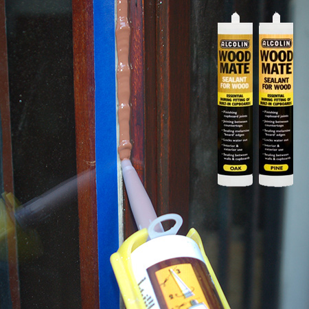 Pop the cartridge into a caulking gun and slowly squeeze the gun to release a bead of Alcolin Wood Mate along the edge of the frame. If you need to stop at any time, start where you left off.