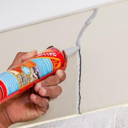 Home Dzine Home Diy Cracks Gone With Sikaflex 11fc