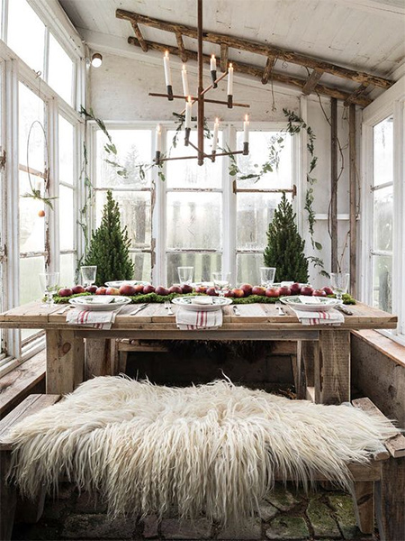 Scandinavian Countries Have A Knack For Decorating Their Homes Christmas Using Rustic Materials And