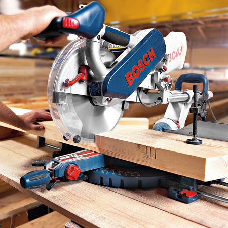 bosch mitre saw - Even the most novice DIYer will be amazed at how much time they save with this benchtop power tool. A mitre saw quickly cuts timber precisely and accurately and can be set at a whole range of angles to suit any job.