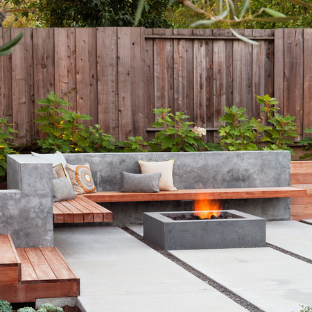 Home dzine garden ideas use concrete for durable outdoor for Designer garden furniture