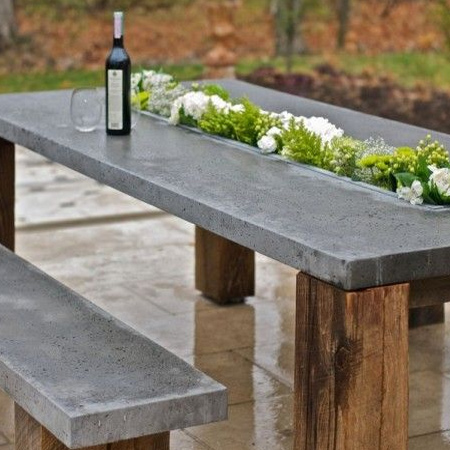 Experiment with smaller projects, such as a basic tabletop or fire pit, to  better understand the method for casting different shapes using plywood  forms. - HOME DZINE Garden Ideas Use Concrete For Durable Outdoor Furniture