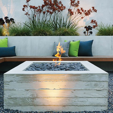 Use concrete for durable outdoor furniture - HOME DZINE Garden Ideas Use Concrete For Durable Outdoor Furniture