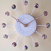 Bottle top clocks