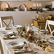 Festive dining tables
