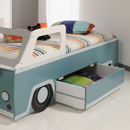 volksie bus bed with storage drawer