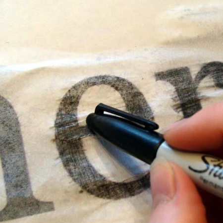 how to transfer pc printed letters onto wood