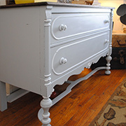 Use Chalked paint on dark wood furniture