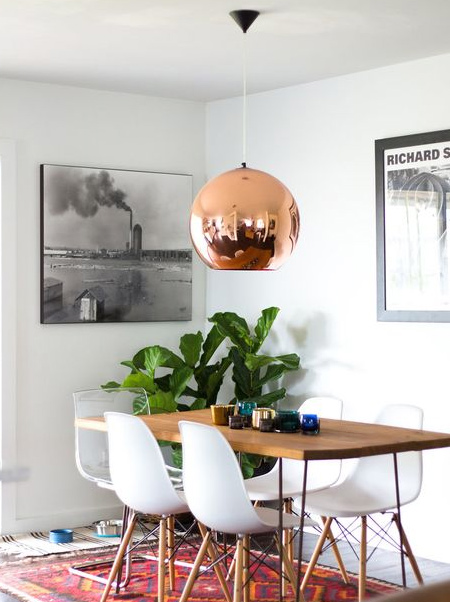 Create your own copper pendant lights with rustoleum metallic