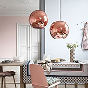 Make your own copper-look pendant light