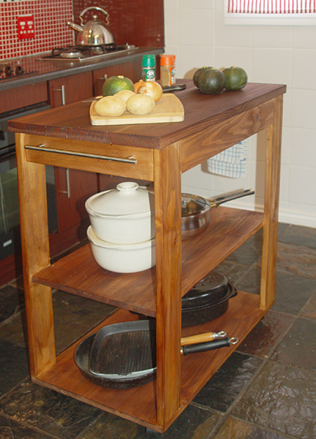 how to make a Mobile kitchen island with Kreg pockethole jig