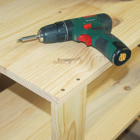 bosch psb 10,8 drill driver to make a mobile kitchen island