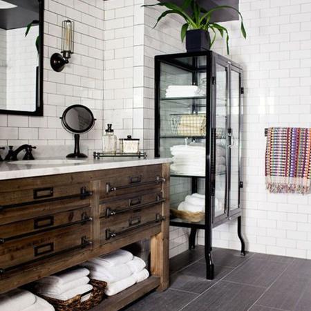 home dzine home decor | modern design meets rustic elements
