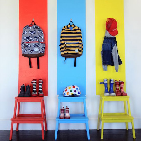 Colourful childrens or kids bedrooms using rustoleum spray paint