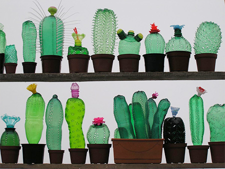 Recycled PET plastic bottles become art