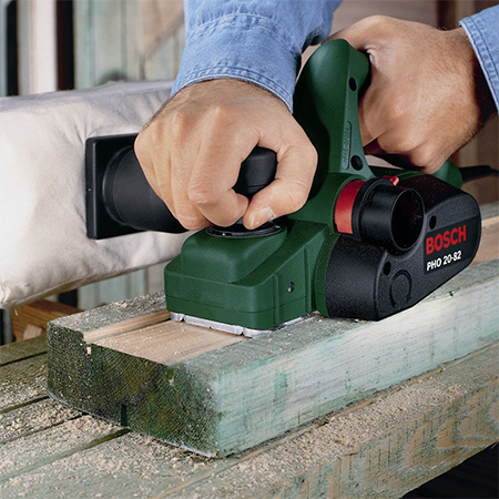 a powered planer saves time and energy when you need to smooth down rough wood or trim off a bit here and there