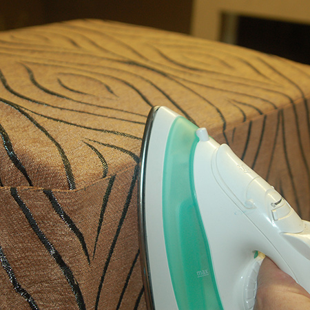 no staples when making upholstered ottoman