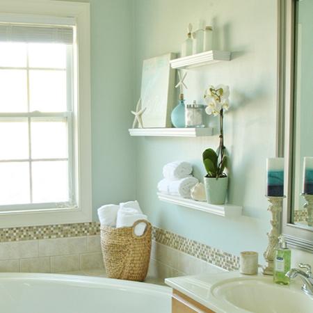 make box shelves for mounting on bathroom walls