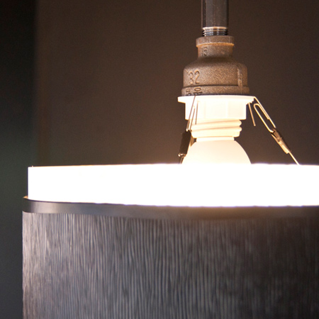 diy industrial style pendant shade