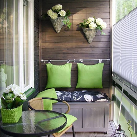 Practical ideas for a small balcony