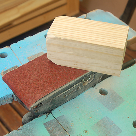 when sanding repeat or large quantity projects... Lock your sander upside down in a clamping workbench
