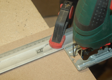 Ensure perfectly straight cuts by using a steel ruler as a guide