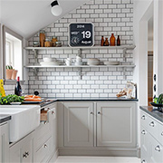 Make a small kitchen feel larger