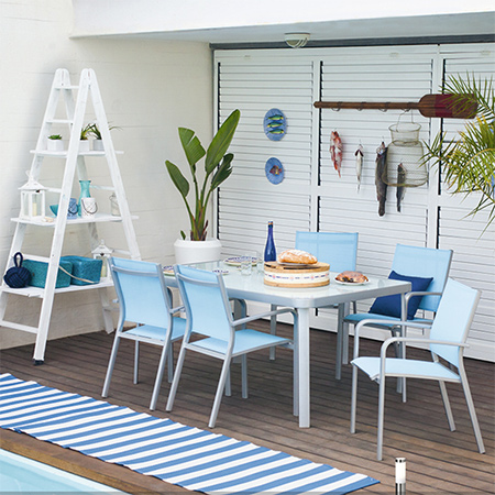 shady cool outdoor patio or deck