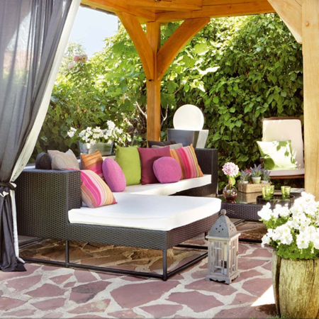 shady cool outdoor patio or deck ideas