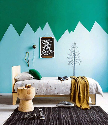 Colourful childrens or kids bedrooms