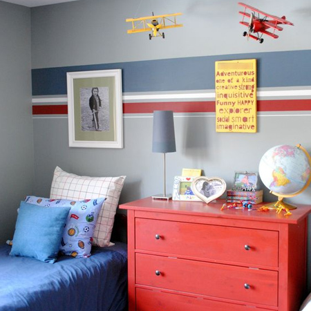 Colourful childrens or kids bedroom