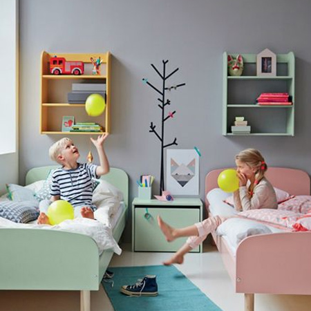 Colourful child or kids bedrooms