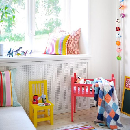Colourful childrens or kids bedrooms with rustoleum