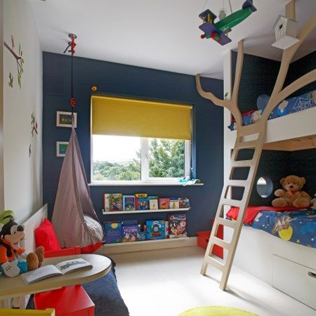 Colourful child or kids bedrooms with rustoleum