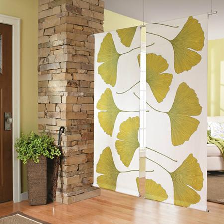 home dzine home decor make a fabric room divider