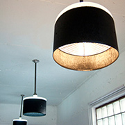 Easy way to make a drum pendant shade