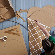 Creative cardboard for kids