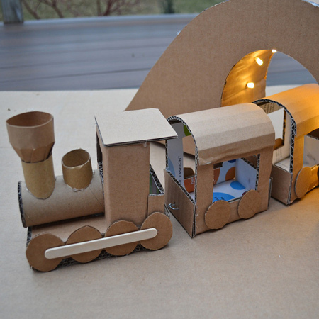 Home Dzine Craft Ideas Creative Cardboard For Kids