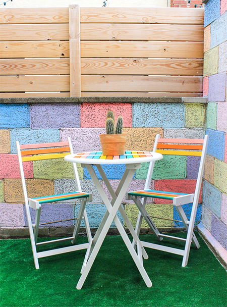 add some colour to your patio furniture with rust oleum 2x spray paint and refresh your outdoor space