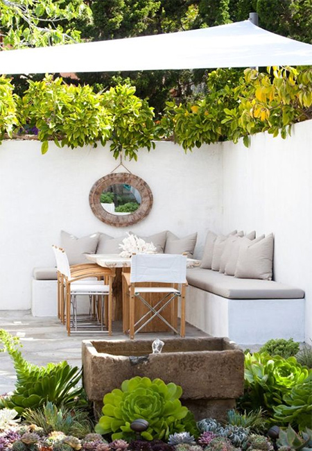 Whatever the size of the space, choose a design that fits in with your style of living and the available space. You need to allow for seating or dining furniture, as well as small areas where indigenous, water-wise or colourful plants can be potted up. We have some great ideas for using breeze blocks for easy planting solutions.