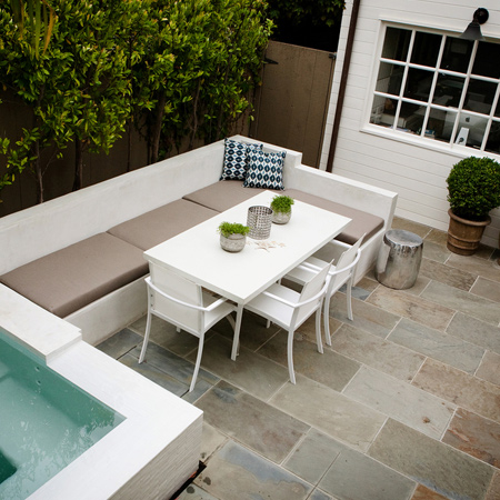 When choosing the right furniture for your courtyard it important to look at both size and style.